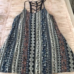 SUPER CUTE MINI DRESS WITH LATTER CROCHET BACK